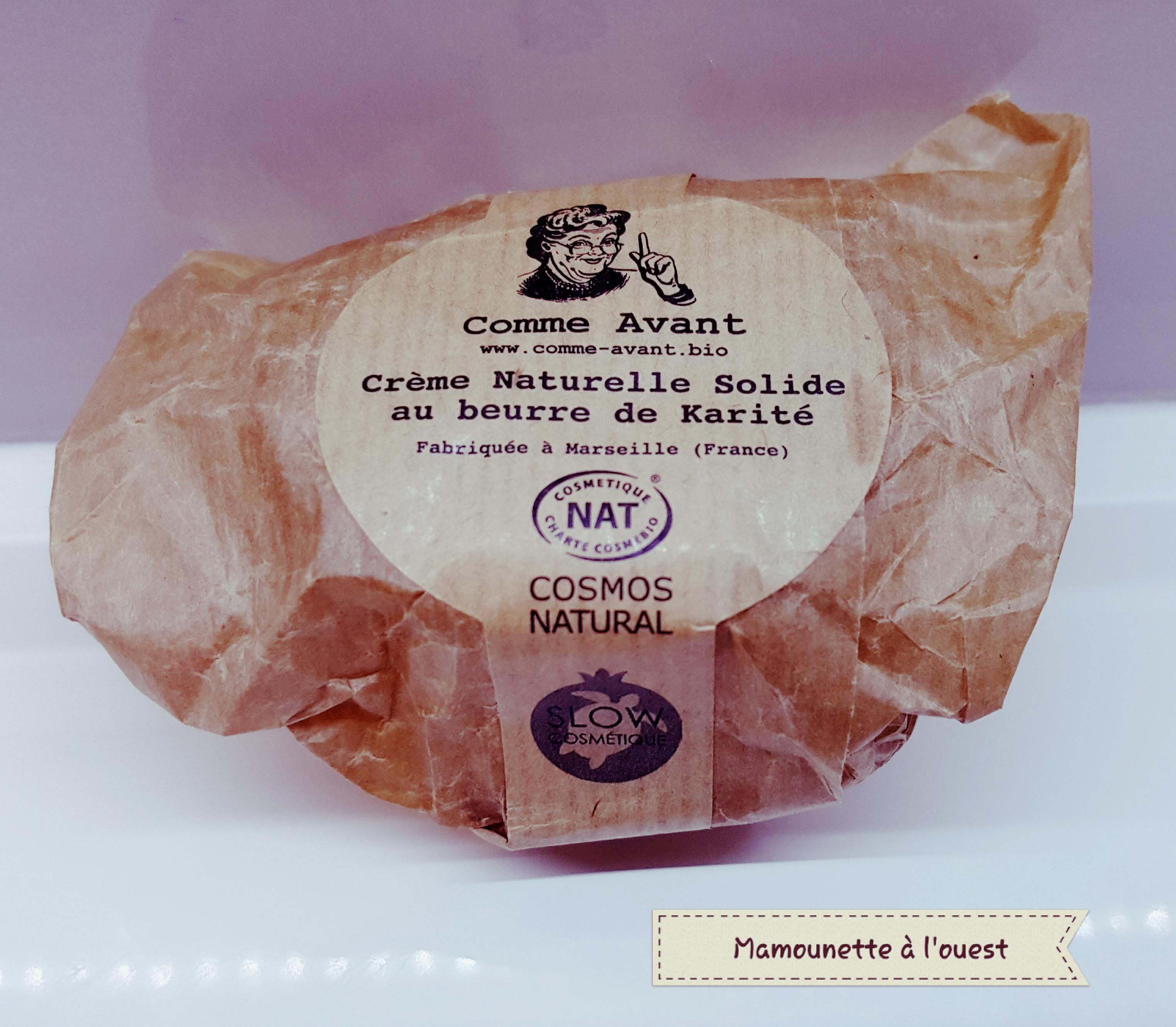 Crème naturelle solide au beurre de Karité Comme Avant.jpg