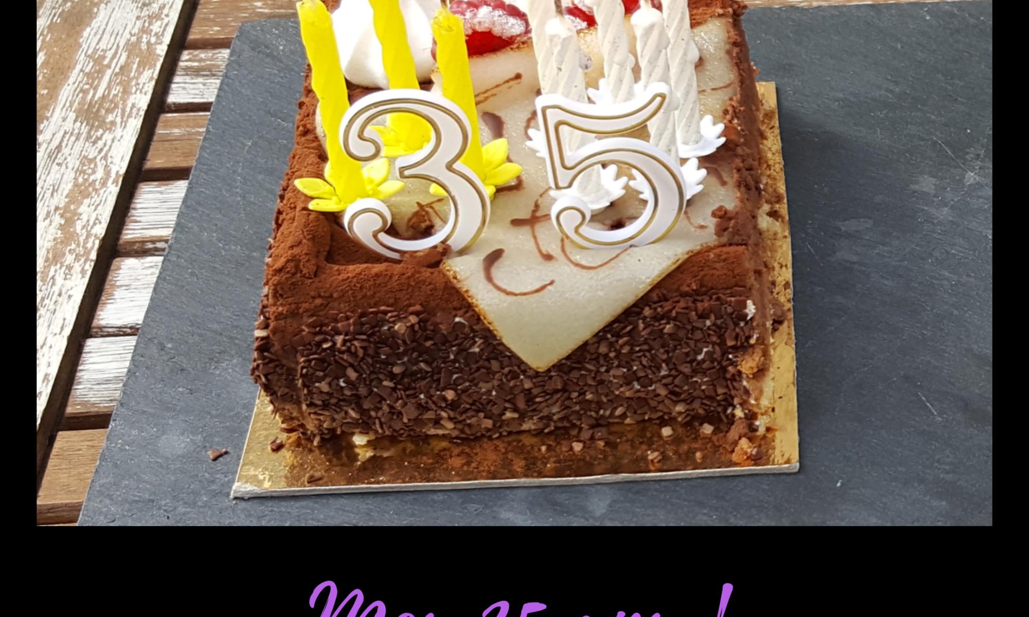Gâteau pour mes 35 ans.