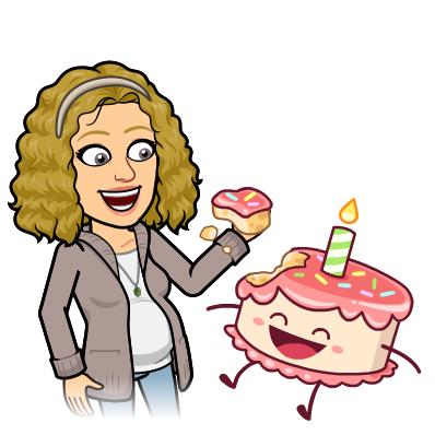 Je mange mon gâteau d'anniversaire.