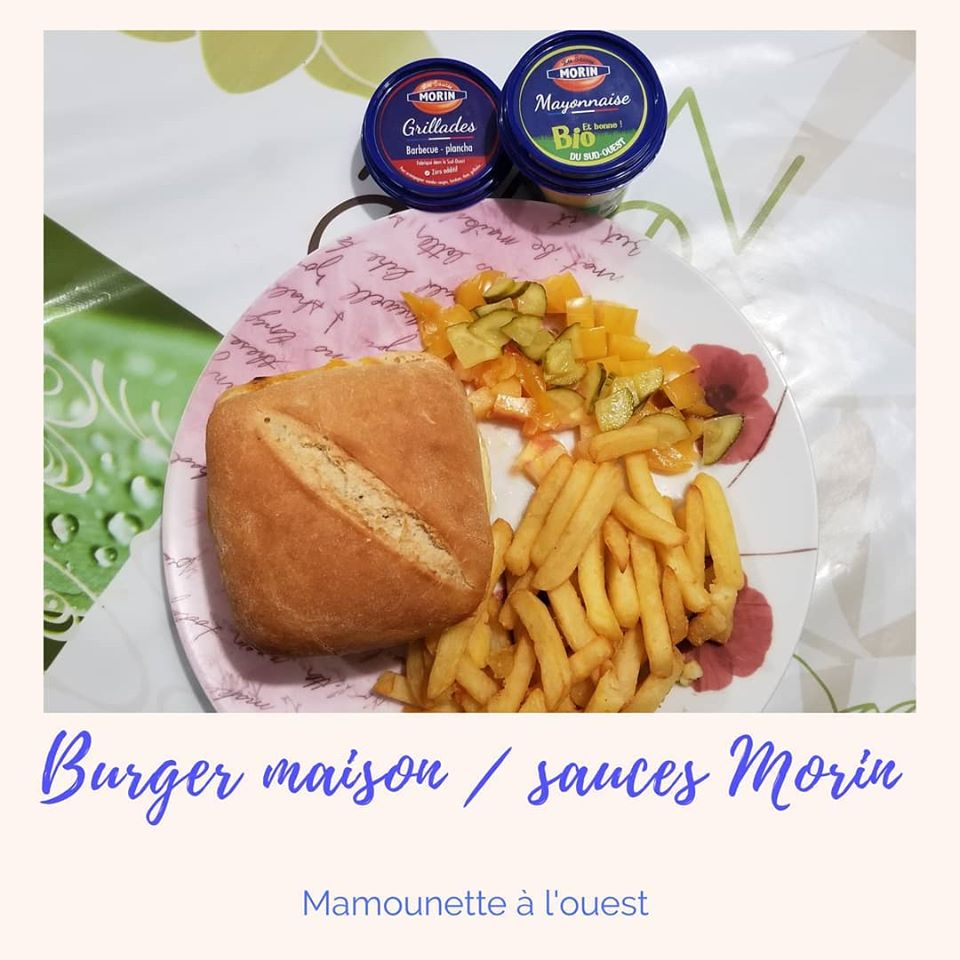 Burger maison Les Sauces Morin sauce grillades et mayonnaise Bio