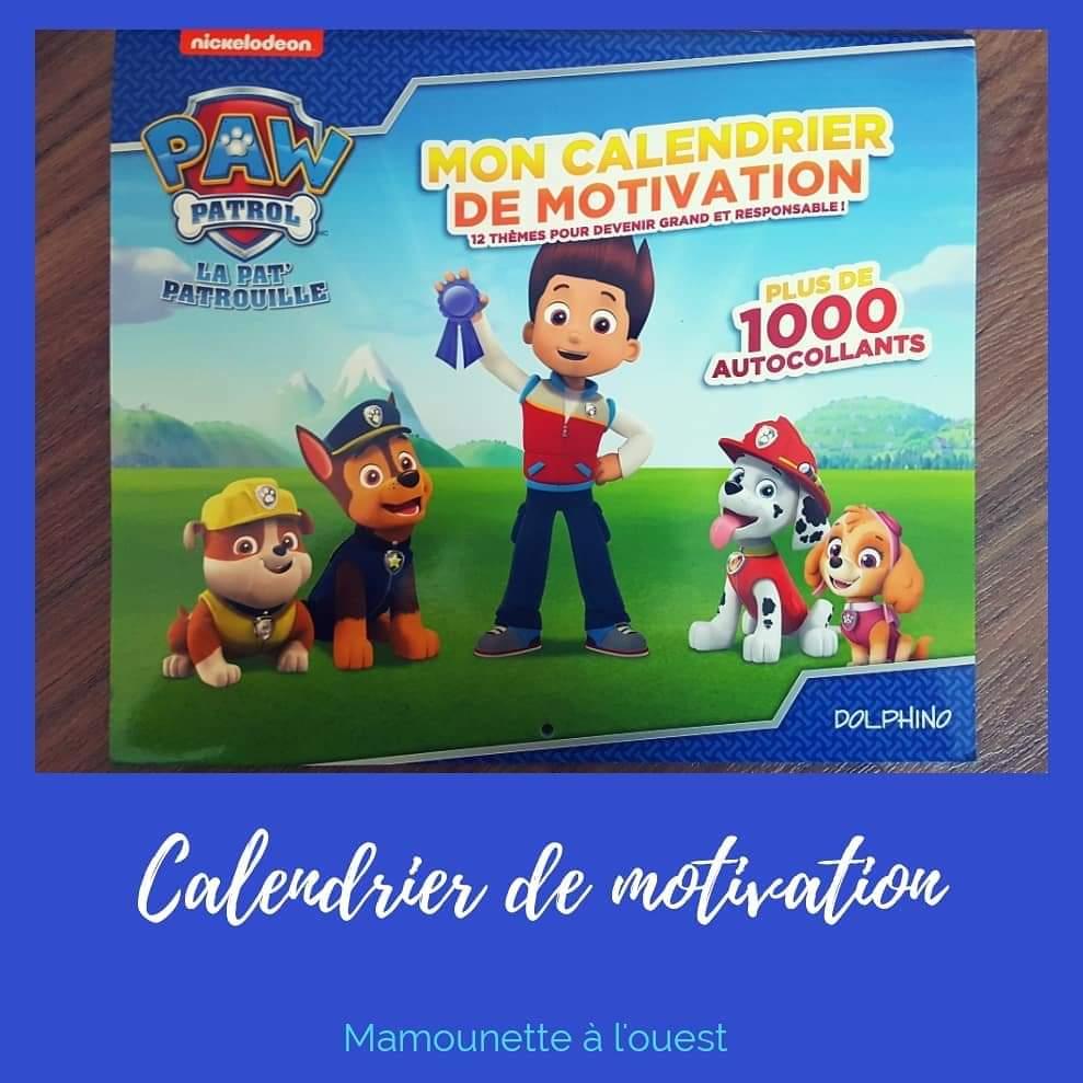 Calendrier de motivation Pat Patrouille
