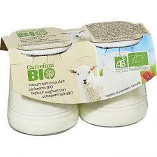 Yaourts au lait de brebis bio Carrefour