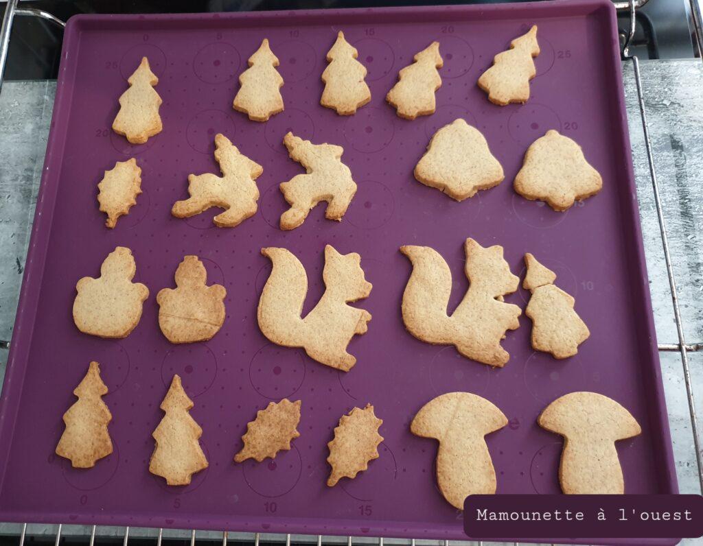 Cuisson des biscuits sablés à la cannelle