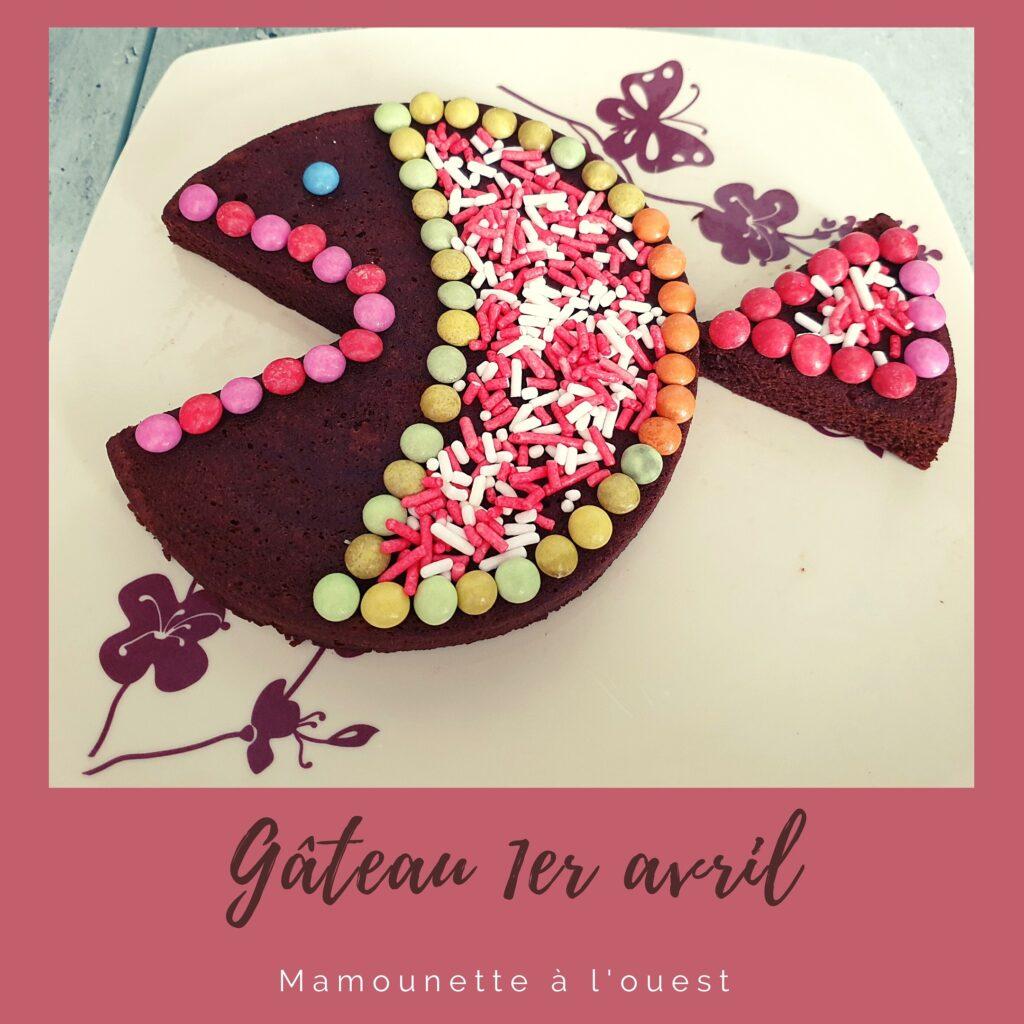 Gâteau léger au chocolat en forme de poisson.