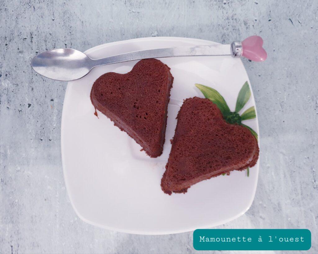 Petits gâteaux cœur au chocolat légers, 4 pts WW.