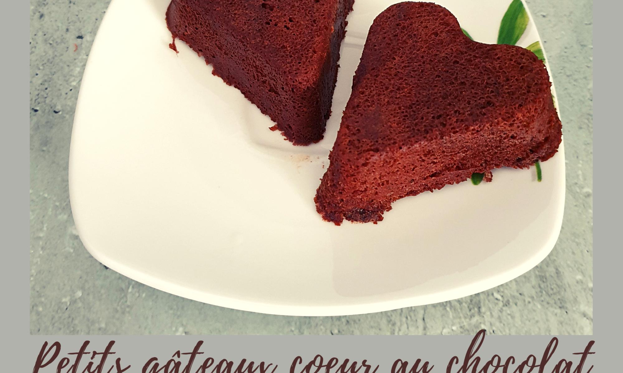 Recette des petits gâteaux coeur au chocolat très légers (4pts WW).