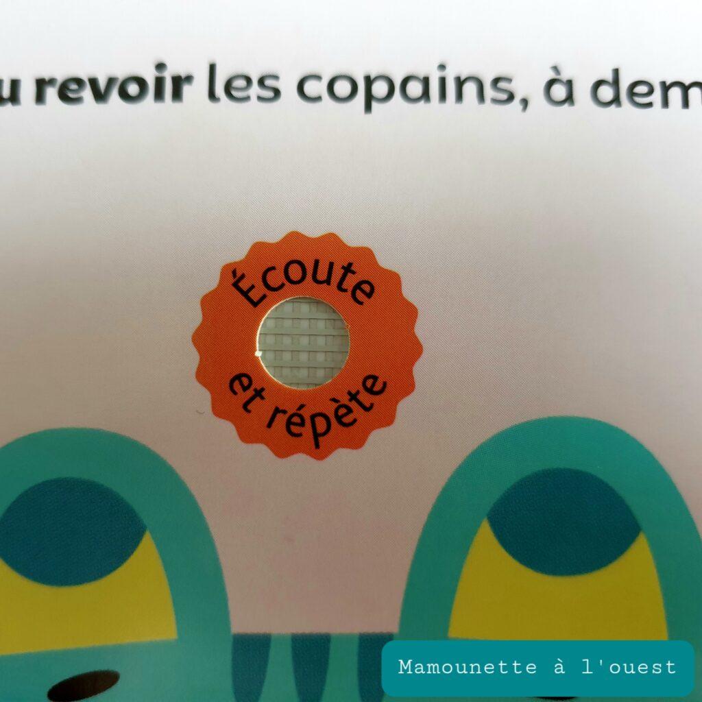 Puce sonore sur les livres de la collection Gaspard aux éditions Larousse.
